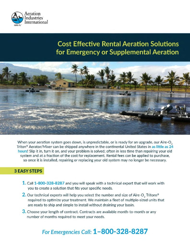 Rental, Emergency and Supplemental Aeration